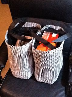 Two Giant Pull Tab Grocery Bags. $140.00, via Etsy.
