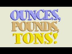 OUNCES, POUNDS, & TONS SONG & MUSIC VIDEO ★ Math & Measurement ★ Save 70% by buying our full library of lesson materials and animated videos: https://www.teacherspayteachers.com/Product/Math-Worksheets-2200780 <-- Link Works