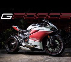 Ducati 899 panigale with a single side swing arm and some decals