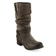 My new Fall Boots!  Majorca Villa in Charcoal Suede - Womens Boots from Clarks