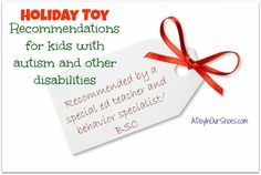 holiday toy gift ideas for kids with autism or developmental delays