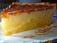 """SOUTHERN BUTTERMILK PIE: 1/2c buttermilk 1 3/4c sugar  2 large eggs 3tbsp flour pinch of salt  1 stick butter melted  1tsp vanilla  1 tsp nutmeg  Preheat oven to 400°. Mix everything together and pour into an unbaked 9"""" pieshell. Sprinkle the top lightly with nutmeg. Bake 15min. Reduce oven to 350° and bake 45min. Cool to allow filling to set."""