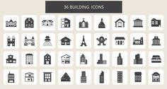 Estos 36 iconos de edificios molan un montón. Además están bajo licencia Creative Commons Attribution, lo que posibilita a cualquier usuario la opción de usarlos para su web o blog de manera gratuita.