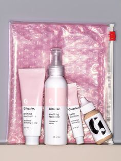Glossier is a beauty brand and skincare line and it's essentially the hot older sister of Proactiv.