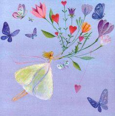 Square card by Mila Marquis di MarquisWonderland su Etsy Birthday Wishes, Happy Birthday, Art Fantaisiste, Sathya Sai Baba, Square Card, Heart Art, Whimsical Art, Pretty Art, Cute Illustration
