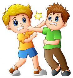 Cartoon boy kicking others Royalty Free Vector Image - kids cartoon Preschool Rules, Preschool Worksheets, Preschool Classroom, Kindergarten, Cartoon Boy, Cartoon Pics, Picture Comprehension, Children Images, Kids Education