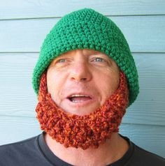 Irish Beard Beanie Hat  Ships in MARCH  Irish by SimplyCollectible