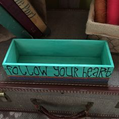 This small wooden box is great for tiny little treasures you've found when you followed your heart.  #followyourheart #stardustbymisty #treasurebox