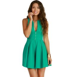 Nice Mint color open cut dress that you can wear on any occasion..