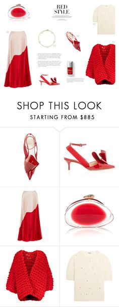 """""""POPS OF RED"""" by canvas-moods ❤ liked on Polyvore featuring Reem Acra, Couture Colour, Louis Vuitton, Miu Miu, Elsa Peretti, red, modaoperandi, popsofred and spring2018"""
