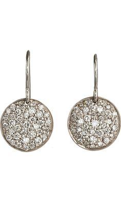 Finn Pave Diamond Birthday Disc Earrings