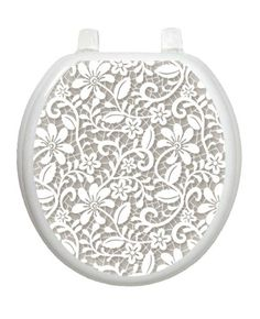 Lovely Lace Toilet Tattoo TT-1089-R Round Theme Elegant Cover Bathroom >>> Click on the image for additional details.