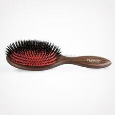 Brosse à cheveux pneumatique en véritable poil de sanglier