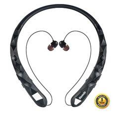 dc98f645c9d Osten Design Bluetooth Wireless Neckband Retractable Earbuds (Black) Neckband  Headphones, Noise Cancelling,