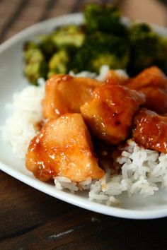 Bourbon Chicken made with wild rice and oriental vegetable. Great meal.