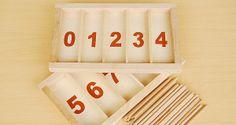 Réaliser une Boîte de fuseaux de Montessori. How to make a Montessori spindle box
