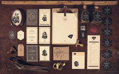 Branding Design for Mr. Lee Tailor Shop by Bruno Nakano Brand Identity Design, Corporate Design, Branding Design, Corporate Identity, Identity Branding, Brand Packaging, Packaging Design, Tailor Shop, Stationary Design