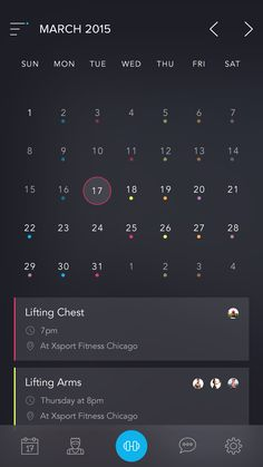 Beautiful calendar app by austinappy - UI Garage - The database of UI Web Design, Ios App Design, Mobile Ui Design, Flat Design, Gui Interface, User Interface Design, Calendar App, Calendar Design, Design Thinking