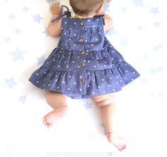 cómo hacer un vestido de bebé paso a paso - Tutorial y patrón gratis