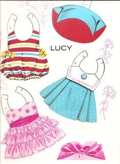 DARLING: LUCY, Colleen and Julie | Punch-Out Paper Dolls with Costumes published 1969 by Saalfield #5141. Original Price 59 cents!  4 of 7