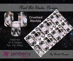 """For the Star Wars fans... Jamberry """"Crushed Marble"""" NAS design by Novak Designs. Msg me to see how you can order your own set."""