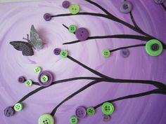 button butterfly painting tutorial by BustedButton.com @Jasmine Tiana
