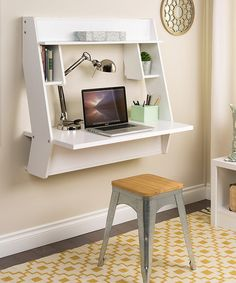 I need!!!!!     Another great find on #zulily! White Studio Floating Desk #zulilyfinds
