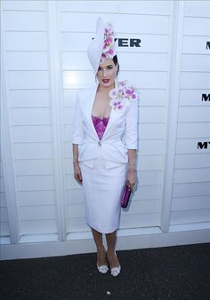 Dita Von Teese attends the Melbourne Cup