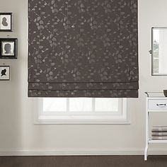 Autumn Leaves Embossed Roman Shade – USD $ 49.99