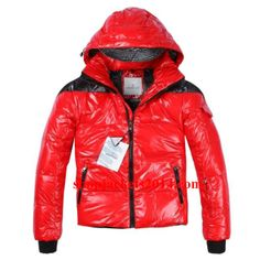 Moncler Outlet UK Aubert Men Down Jackets Red