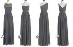 grey bridesmaid dresses, Long prom dresses, cheap bridesmaid dresses, dresses for prom $105.00 USD