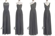 grey bridesmaid dresses, Long prom dresses, cheap bridesmaid dresses, dresses for prom   $105.00 USD