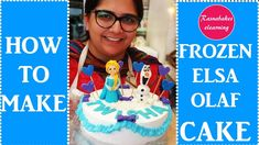 frozen theme happy birthday cake design ideas with Elsa Olaf Happy Birthday Papa Cake, Birthday Cake For Daughter, Easy Kids Birthday Cakes, Cartoon Birthday Cake, Animal Birthday Cakes, Frozen Birthday Cake, Homemade Birthday Cakes, Birthday Cake Girls, Olaf Birthday