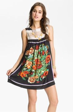 Free People 'Fiesta' Scarf Print Dress