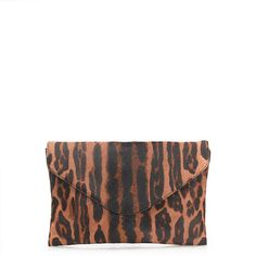 Collection invitation clutch in printed calf hair