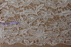 Beige dress lace fabrics 51 inches wide Bridal by Randyfabrics