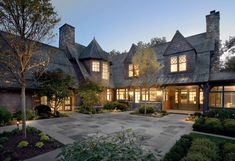 Mackin Architects has designed this beautiful Gambrel shingle-style home located in Greenwich, Connecticut. Shingle Style Homes, Stone Cottages, Gambrel, Exterior Design, House Tours, Architecture Design, House Plans, Fairfield County, Mansions