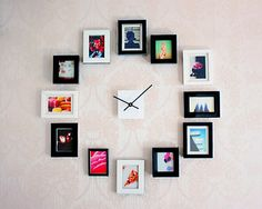 I love clocks, must try this DIY clock! Make an Easy DIY Wall Clock from Photos Diy Clock, Clock Decor, Diy Wall Decor, Home Decor, Clock Ideas, Wall Decorations, Vinyl Decor, Vinyl Art, Photo Wall Clocks