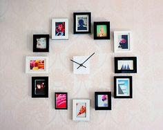 Reloj de pared con fotos • Easy DIY Wall Clock from Photos