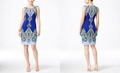 INC International Concepts Sleeveless Paisley-Print Sheath Dress, Only at Macy's