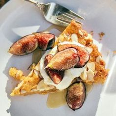 Almond Torte with Grilled Figs | MyRecipes.com