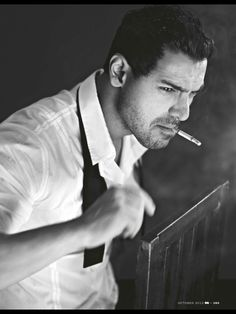 I have a thing for man with a little beard & a cigarette . Sexy