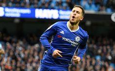 Scarica sfondi Eden Hazard, il Chelsea, ritratto, Premier League, calcio, Inghilterra, Belgio, giocatore di calcio a