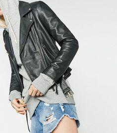 Zara Basic Leather Jacket