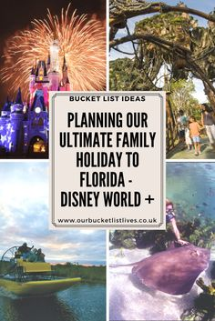 Planning our Ultimate Family holiday to Florida and Disney world. Ultimate Disney world planner. Universal, Florida Keys, Everglades, Family attractions #disney #Disneyworld #family #orlando #bucketlist #familytravel #travel