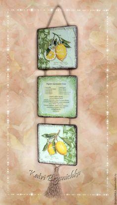 """Купить Триптих """"Лимонный"""". 3 вида - лимонный, лимоны, лимонный цвет, лимоны на стену"""