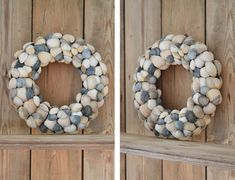 Schelpenkrans maken Seashell Wreath, Seashell Art, Seashell Crafts, Diy Wreath, Burlap Wreath, Wreaths, Sea Shells, Xmas, Gifts