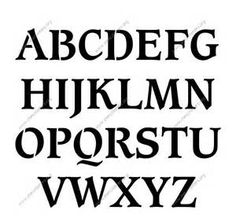 stencil letters to print out for free font bing images - Fun Letters To Print