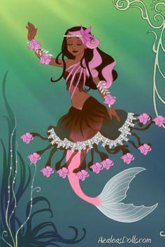 Hamadryad: Sakura Tree Mermaid by Aqualila ~ Azalea's Dress Up Dolls