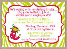 Christmas Party Invitation Wording  Christmas Party Invitation